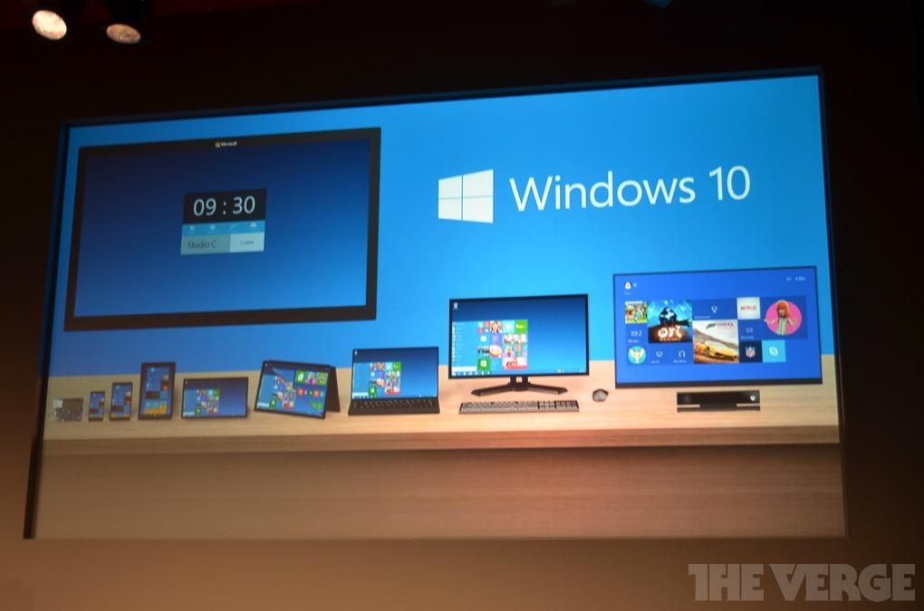 新Windows命名Windows10 正版Win8用户免费升级