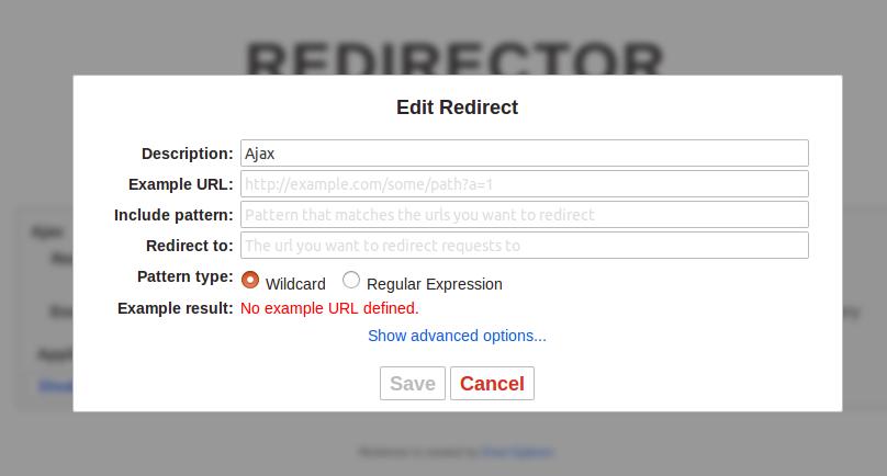 使用Redirector插件解决网站引用文件失效的问题(如googleapis公共库加载的问题) 帮助中心 第4张